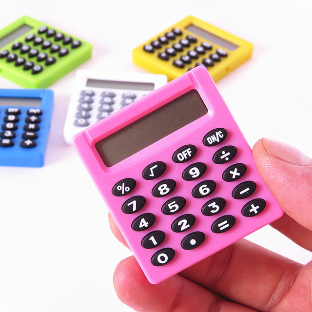 Beautiful Korea Boutique Stationery Small Square Calculator Personalized Mini Candy  Color School U0026 Office Electronics Creative Calculator