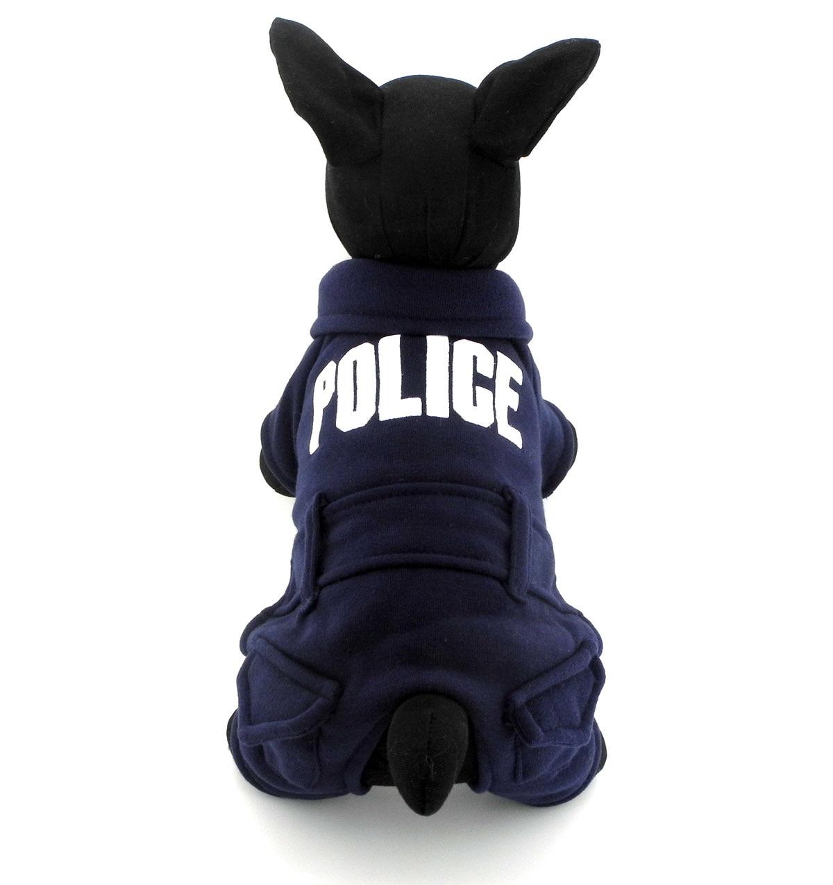 ჱ2017 pequeño perro gato policía Chaqueta del suéter del perrito ...