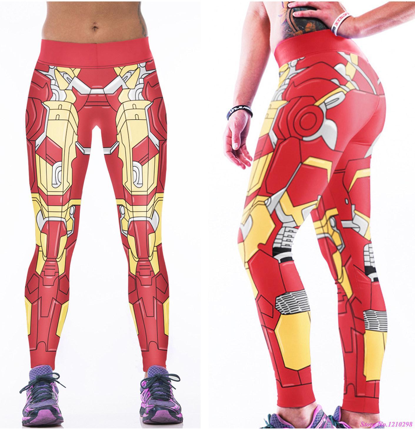 9b0729761a1c Red Iron Man Sport Yoga Sporthose Frauen 3D Print Ironman Laufhose Leggings  Stahl Saints Dünne Fitness