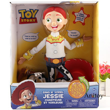 Hablando Woody Jessie juguete historia muñeca PVC figura de acción modelo  de recogida juguetes para niños 644e4ab792b