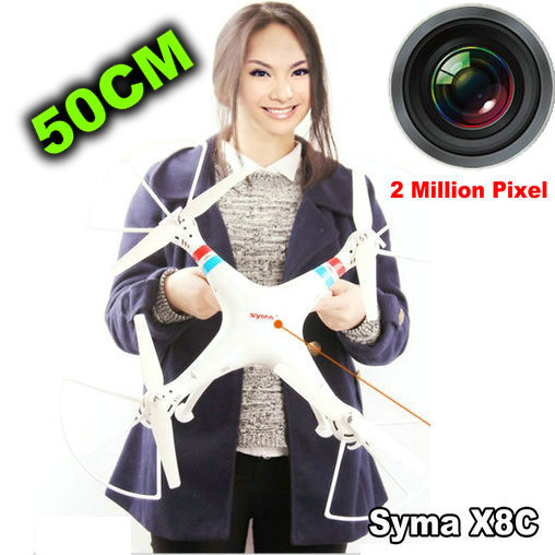 Gratis Verzending Nieuwe Versie Syma Enorme 50 CM X8C 2.4G 4ch 6 Axis Venture met 2MP Groothoek Camera RC Quadcopter Drone VS CX 20