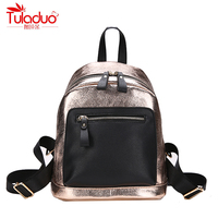 Fashion Sequined Women S Backpacks High Quality PU Leather Backpacks For Teenage Girls Patchwork Women Bacpacks