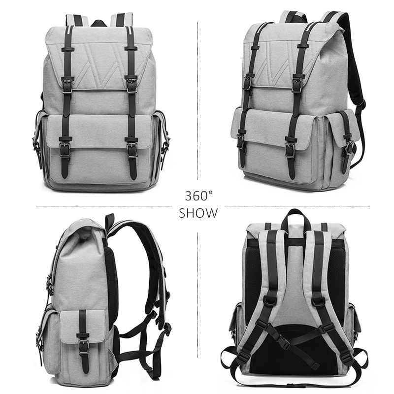 Популярные мужские и женские холщовые рюкзаки 20 в большой емкости школьные сумки для ноутбука для подростков дорожный рюкзак багажный сумка на плечо