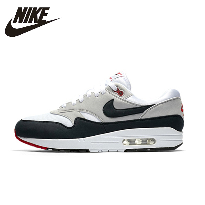 Nike Air Max 1 New Arrival Man Running Shoes Breathable Stability Comfortable Support Outdoor Sneakers 908375