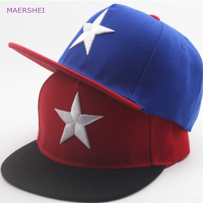 MAERSHEI 2018 Children's Big Five Baseball Hat kids caps boy outdoor street dance cap