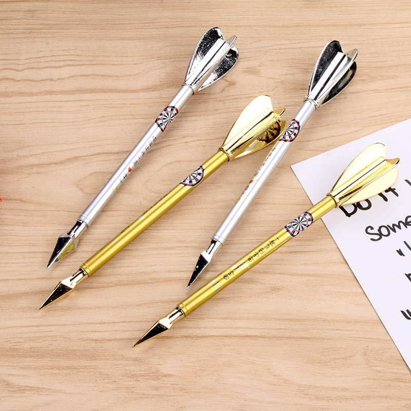 1 PCS Creative Dart Gel Pen Cartoon Weapon Series Neutral Pen Black 0.38MM Student Writing Tools Gifts Office School Supplies