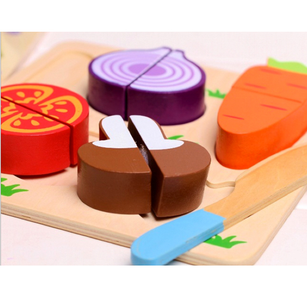 D718 Free shipping the new 2015 earnestly to see play children's educational toys Velcro fruit Random delivery