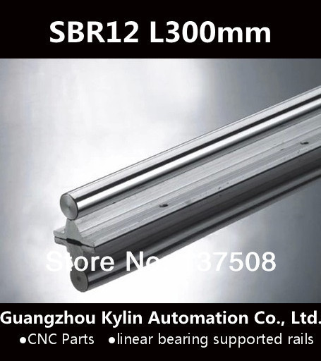 Best Price! 1 pcs SBR12 300mm linear bearing supported rails for CNC can be cut any length best price 5pin cable for outdoor printer