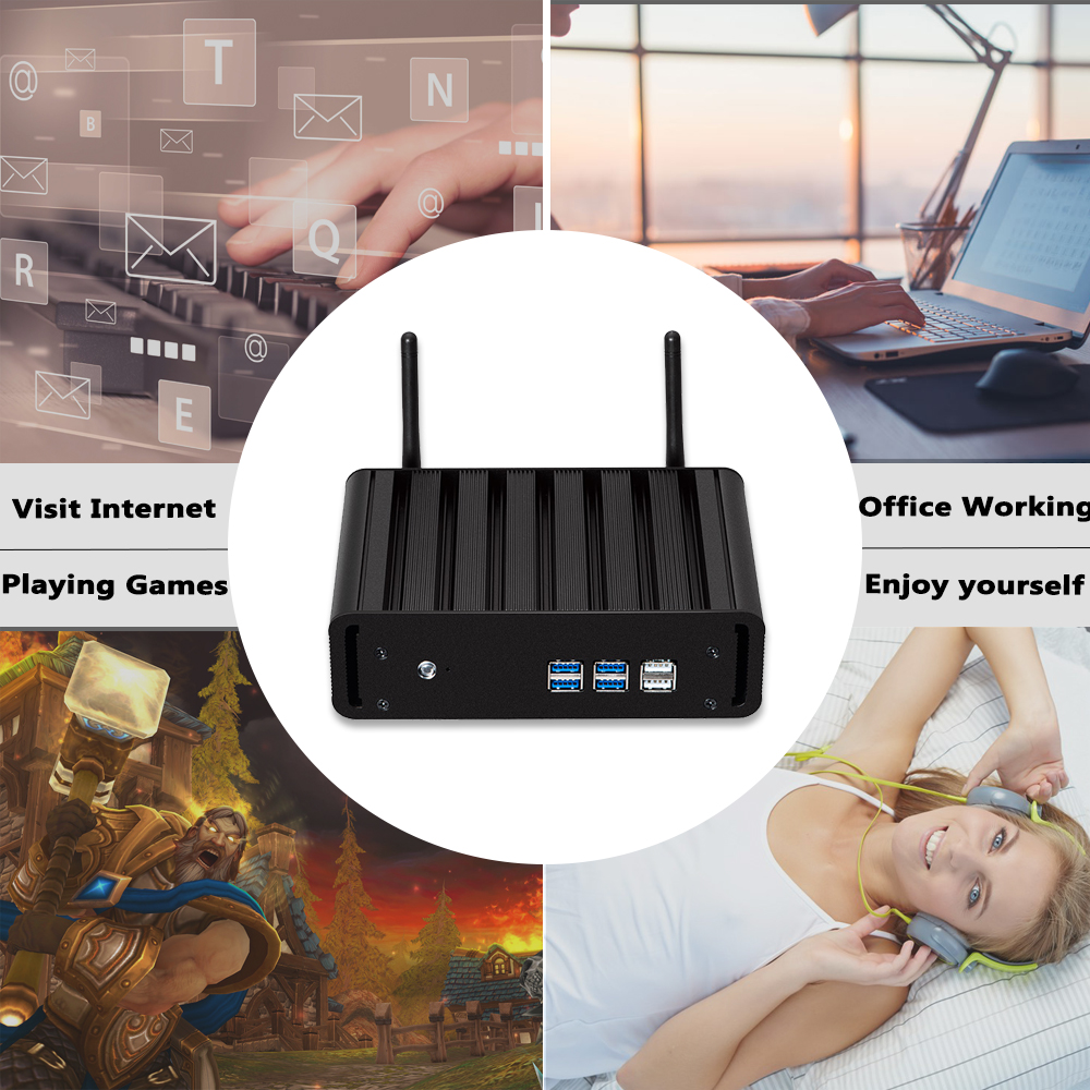 Image 3 - HLY i7 Mini PC Core i7 7500U 6500U 5500U 4K HD Windows 10 Celeron 2955U HDMI USB Wifi TV BOX Mini Computer Barebone PC-in Mini PC from Computer & Office