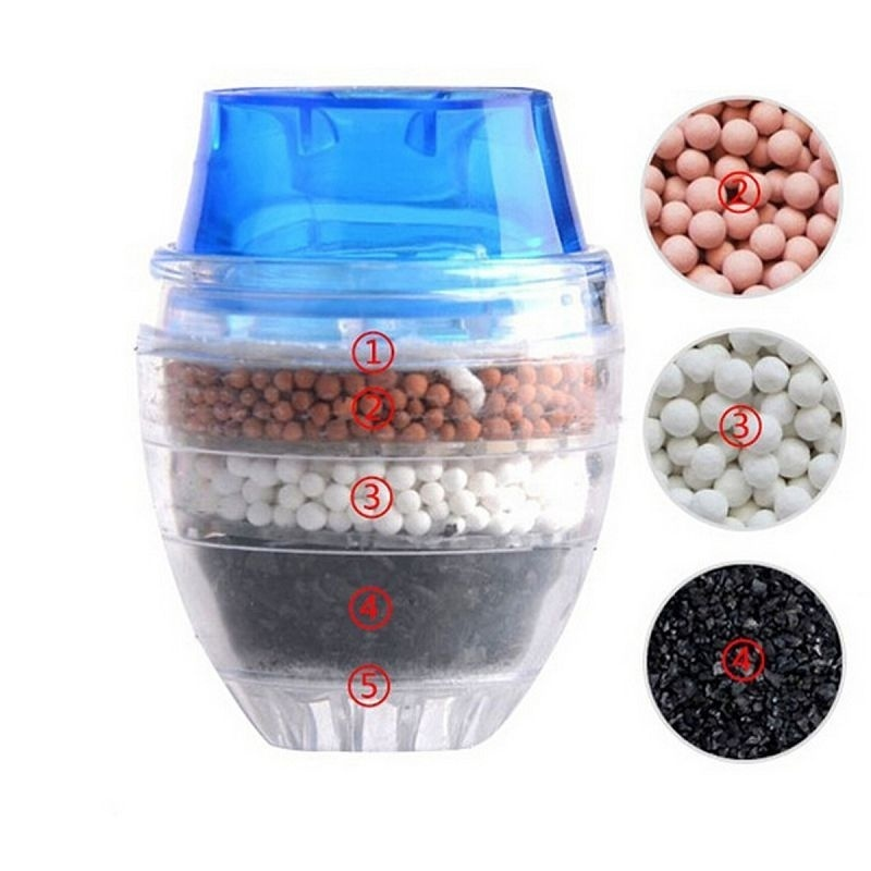 Activated Carbon Water Purifier for Household Kitchen Faucet with Multiple Layer Filtration 3