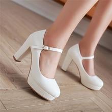 Marca SARAIRIS 2019, elegante, talla grande, 43, zapatos de tacón alto para fiesta para mujer, zapatos cómodos de plataforma para mujer, zapatos de salón mary Jane