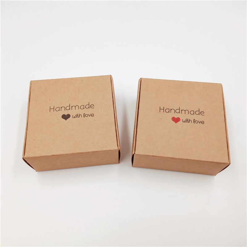 Kraft Karton 6.5X6.5X3 Cm Pesawat Kotak Kertas Handmade Sabun Kotak Kemasan/Permen Kotak Hadiah/ pernikahan Perlengkapan