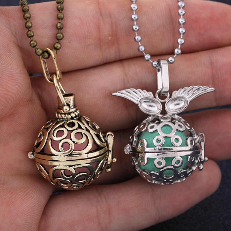 Meksika Chime müzik melek topu arayan madalyon kolye Vintage gebelik kolye aromaterapi uçucu yağ difüzör aksesuarları