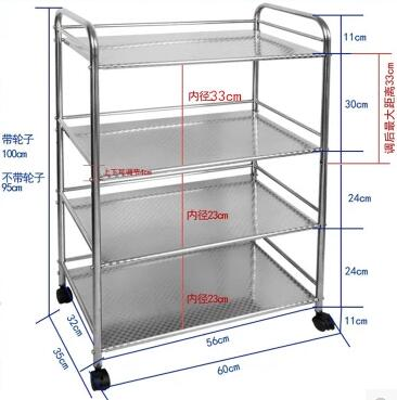 High-end three-storey 304 stainless steel bowl rack Lek racks Kitchen plate racks to put the dishes out of the drain steel d until the end of time
