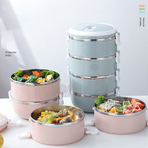 ONEUP Lunch Box For Kids Food Container Thermal Bento Box With Compartments Home Decoration Accessories Kitchen Japanese Style