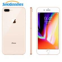 ロック解除アップル使用 iphone 8/iphone 8 プラススマートフォン ios 2 ギガバイト/3 ギガバイトの ram 64/256 ギガバイト rom 12MP 指紋 2691 2600mah lte 携帯電話