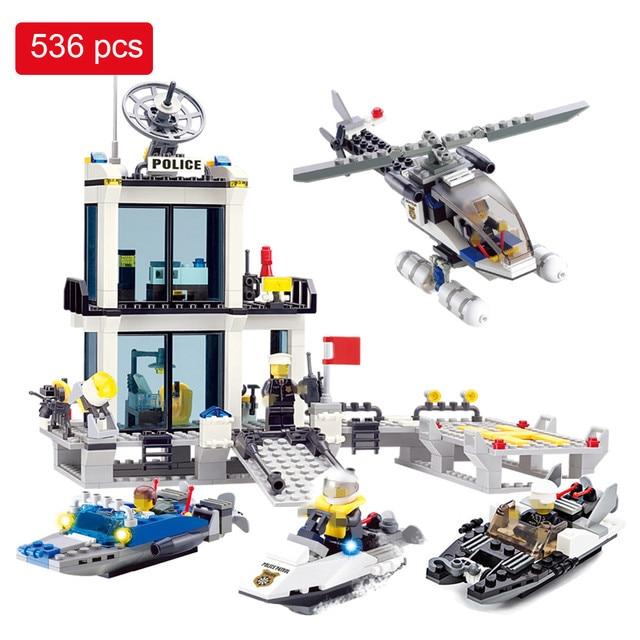 536 piezas de bloques de construcción de la estación de policía de la  prisión cifras Compatible 4b4943a4e74