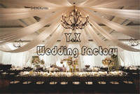 10pcs Nice Looking Ice Silk Ceiling Drapery Fabric For Roof Wedding Event Decoration top drapes fabric