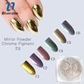 2 g/caja 6 Colores Colorido 3D Nail Art Espejo Cromo Pigmento En Polvo de Brillo Del Polvo Del Polvo de Uñas de Manicura DIY Decoración JH458
