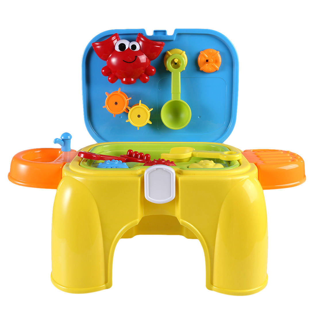 NFSTRIKE Kids Beach sand Toys Pretend Play Set with Retractable Storage Chair Educational Occupations Toys for Children Girls