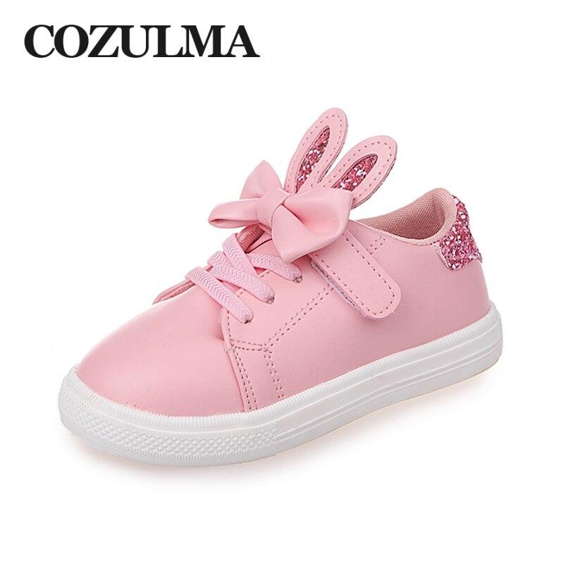 COZULMA Spring Children Sneakers Kids Shoes Girls cekinowe uszy - Obuwie dziecięce - Zdjęcie 6