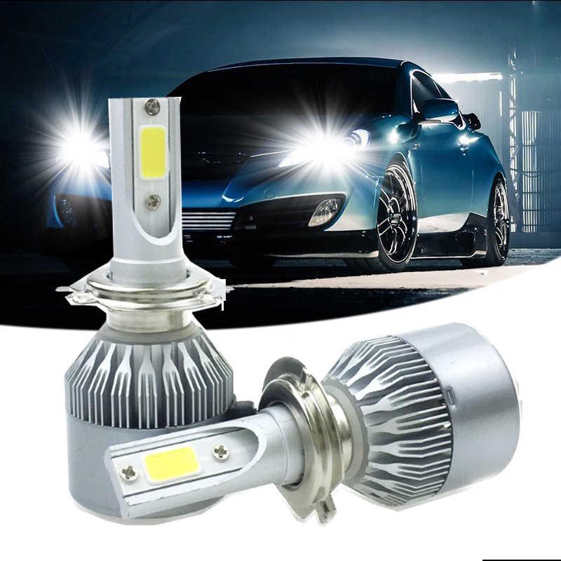 Elglux LED Car Headlight H4 HB3/9005 HB4/9006 H1 H3 H7 H11 72W 7600Lm Auto Front Bulb Automobile Headlamp Car Light 12V 24V