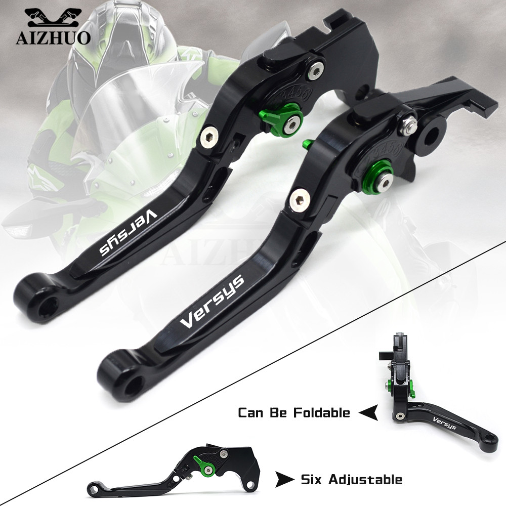 Motorcycle Clutch Brake Lever CNC Aluminum Adjustable Motorbike Brake Clutch Lever With LOGO For Kawasaki Versys 1000 2012-2014 adjustable folding extendable brake clutch lever for kawasaki versys 1000 versys1000 14 15 free shipping with logo motorcycle