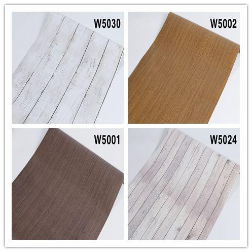 Film Wood Grain Wallpaper Wall Sticker Decal Self Adhesive Renovation Kitchen Cabinet Waterproof Home Decor
