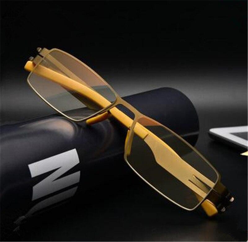 6a50fc5e3e7d0 BINYEAE KLESIA liga de Titânio Senadores Antireflective revestido leitor  ler Não esféricas óculos de Leitura