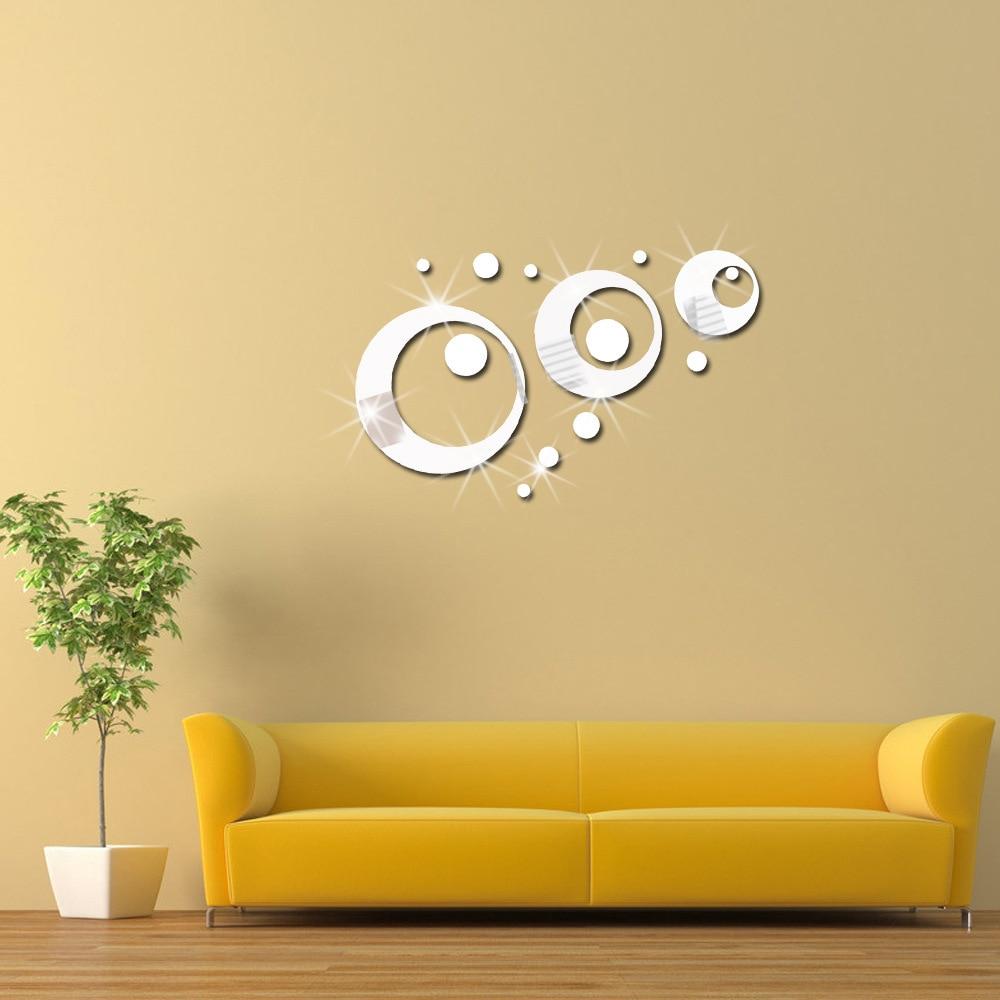 DIY Round Circle Mirror Wall Sticker,Acrylic Decorative Mirror Wall ...