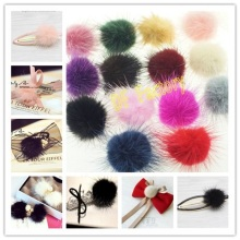 Фотография 4cm Competitive Fur Material Decorative Flower Charms For DIY Hair Accessories Hair Clips(20pcs/lot