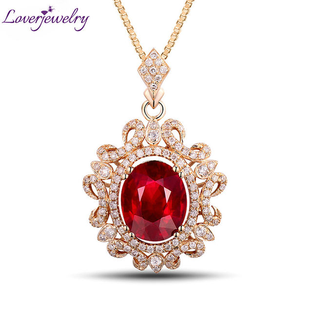 Royal in solid 14kt yellow gold natural diamond ruby wedding pendant royal in solid 14kt yellow gold natural diamond ruby wedding pendant necklace oval 8x10mm gem jewelry aloadofball Gallery