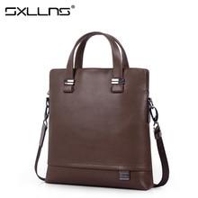 Hot Men Shoulder Bag Business Tote Bag Cowhide Crossbody Bag Briefcase Sxllns Brand Handbag Men's Messenger Bag Free Shipping