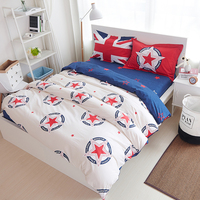 British flag 100%cotton Reactive printed bedding set duvet cover flat sheet bedsheet bedspread pillowcase 4pcs star gift