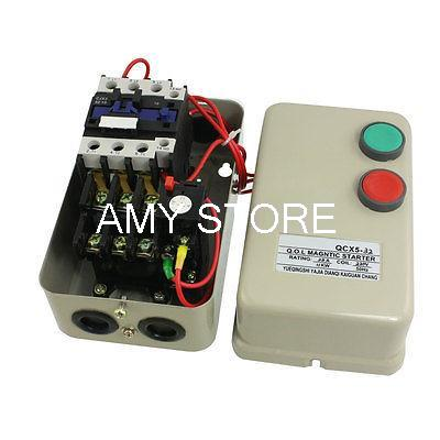 220V Coil AC Contactor 11KW 15 Horse Power 3 Phase Motor Magnetic Starter 14-22A QCX5-11KW chint electromagnetism starter magnetic force starter qc36 10t motor starter phase protect magnetic force switch