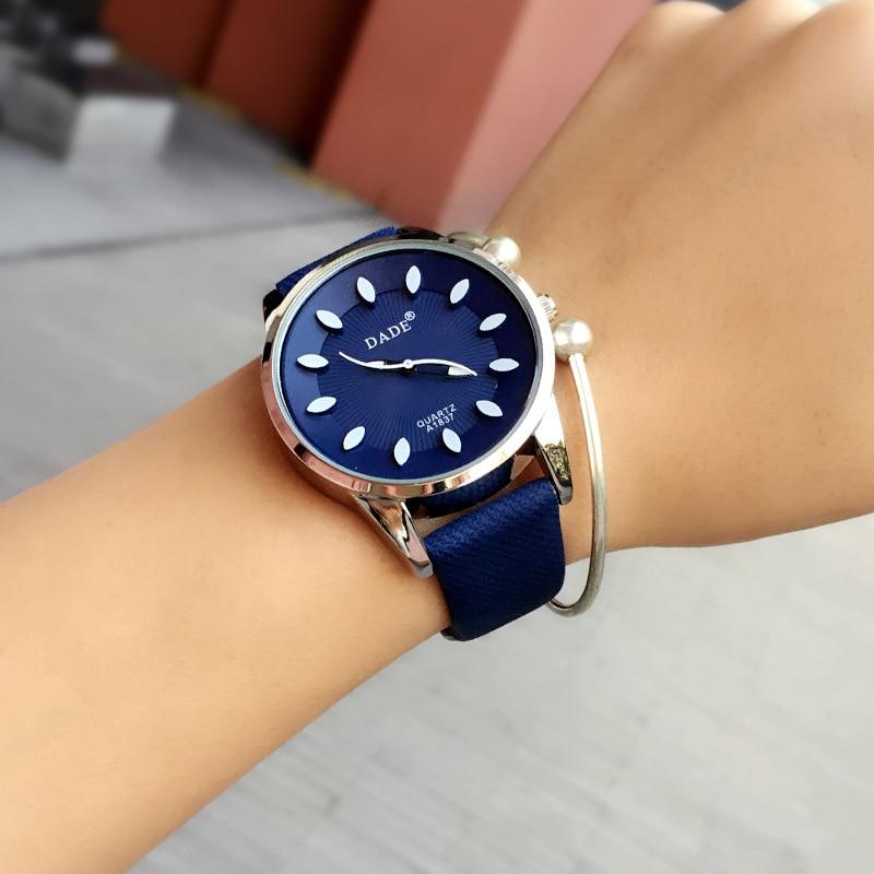 Klassische 2017 Neue Mode Einfachen Stil Top Berühmte luxusmarke quarzuhr Frauen casual Leder uhren hot Clock Reloj mujeres