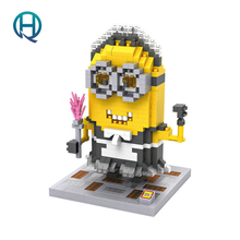 Mini Nano Blocks Minion LOZ Building Blocks Maid Figures Diamond Blocks Compatible Legoelieds Toys 9613