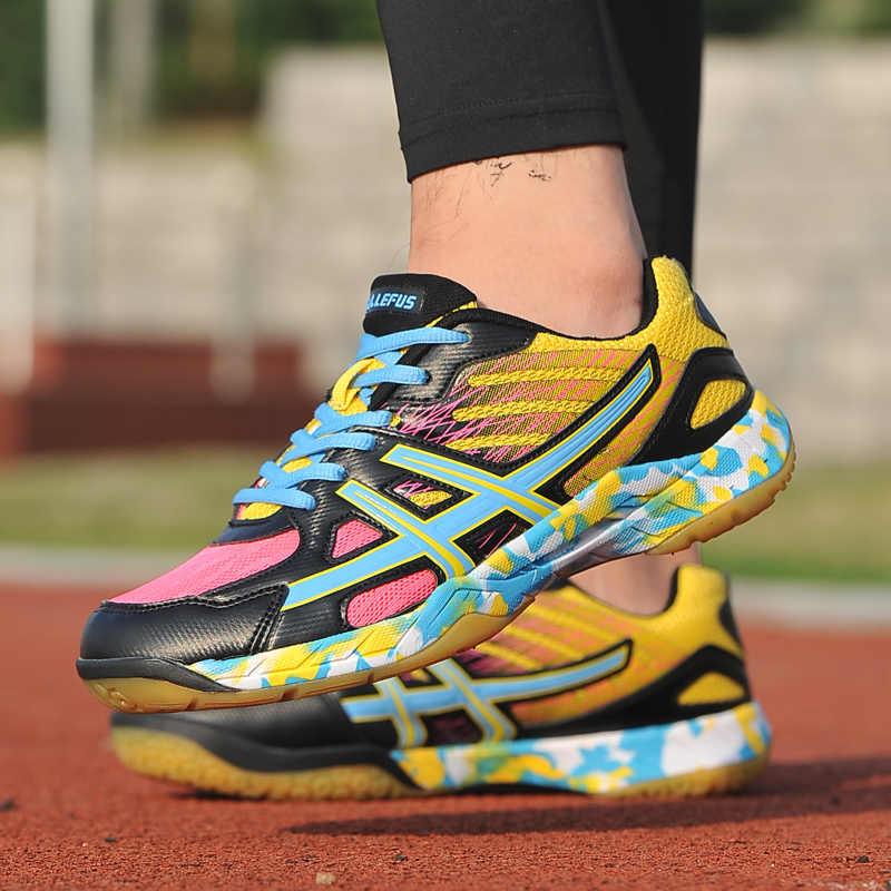 Zapatos de Bádminton de tenis para mujer, zapatillas bonitas de talla grande para niñas, cómodas botas de entrenamiento, calzado deportivo para hombres, calzado antideslizante para niños