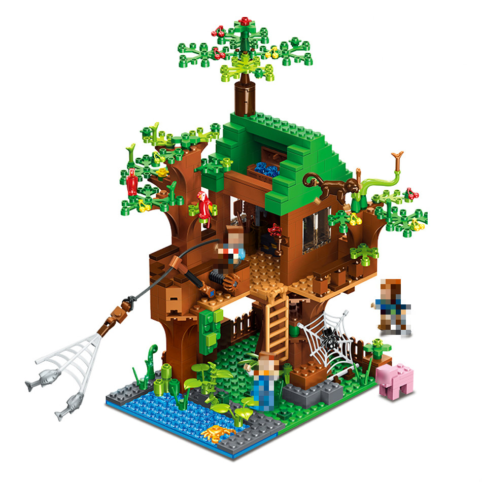443pcs My CubeWorld Series Island Forest House Model Building Blocks Compatible Lepins Village Brick Toys for Children oh my god it s electro house volume 4
