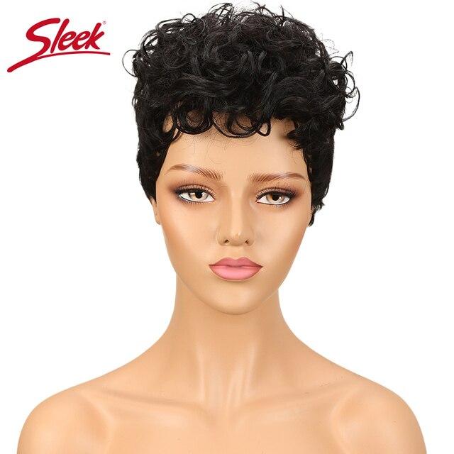 洗練されたブラジル生意気カール黒人女性のための人間のかつら色かつら