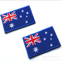Wholesale Military Morale Patch Embroidery Flag Patch Austria Badge Patch Applique Handmade For Cloth Bags Shirts