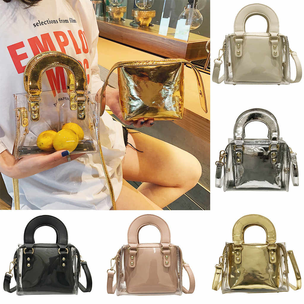 c126f8d9a8 xiniu Transparent Bag For Women 2019 Handbag With Bamboo Handle Summer  Small Chain Crossbody Bags Ladies Straw Beach Bags #4