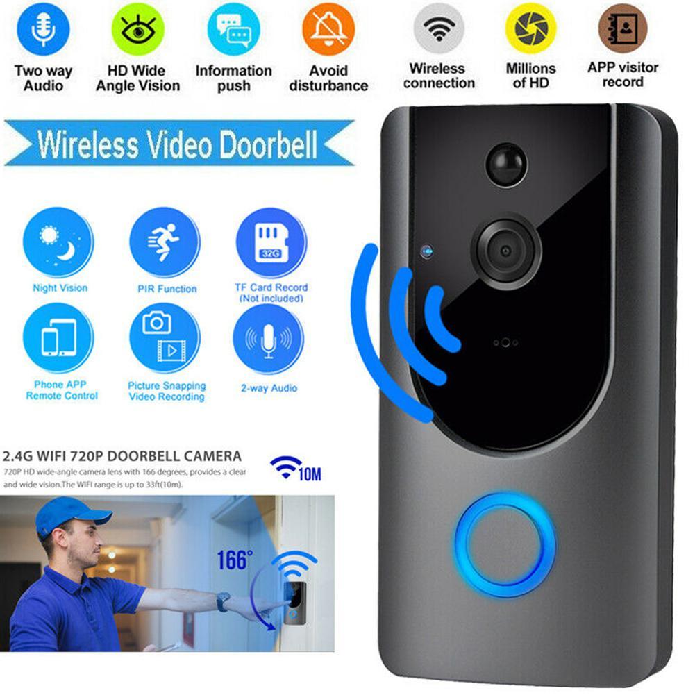 Wireless WiFi Smart Doorbell IR Video Visual Ring Camera Intercom For Home Security R20