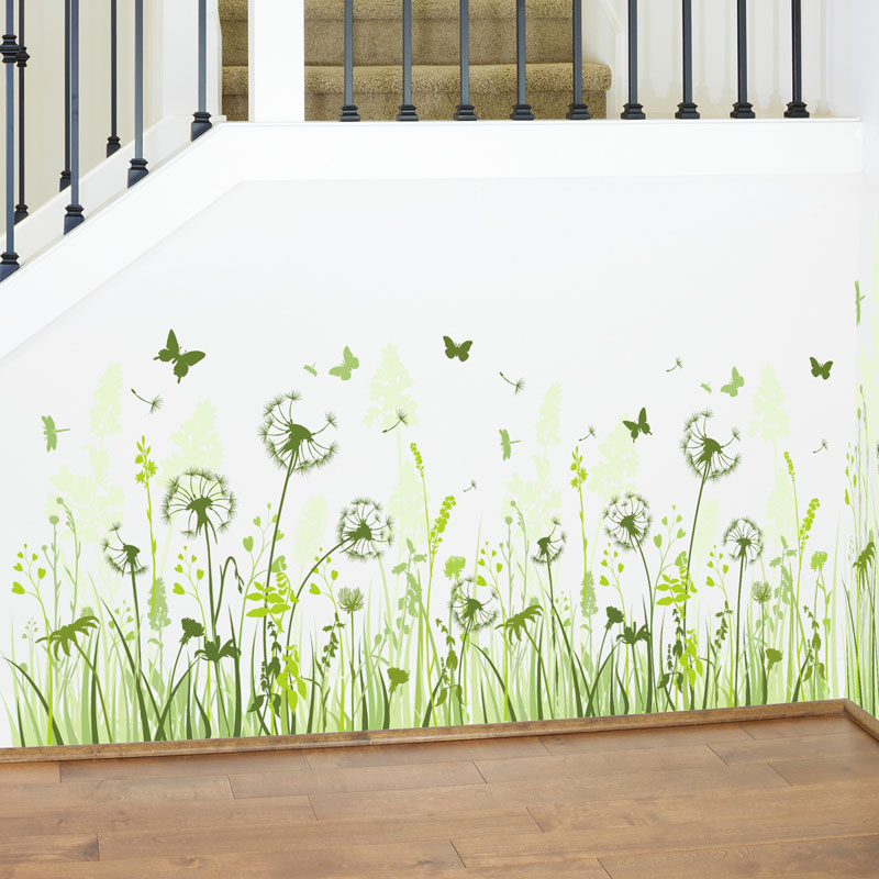 Fundecor Dandelion Wall Stickers Home Decor Living Room Kitchen Interior Decorative Decals Diy Stickers