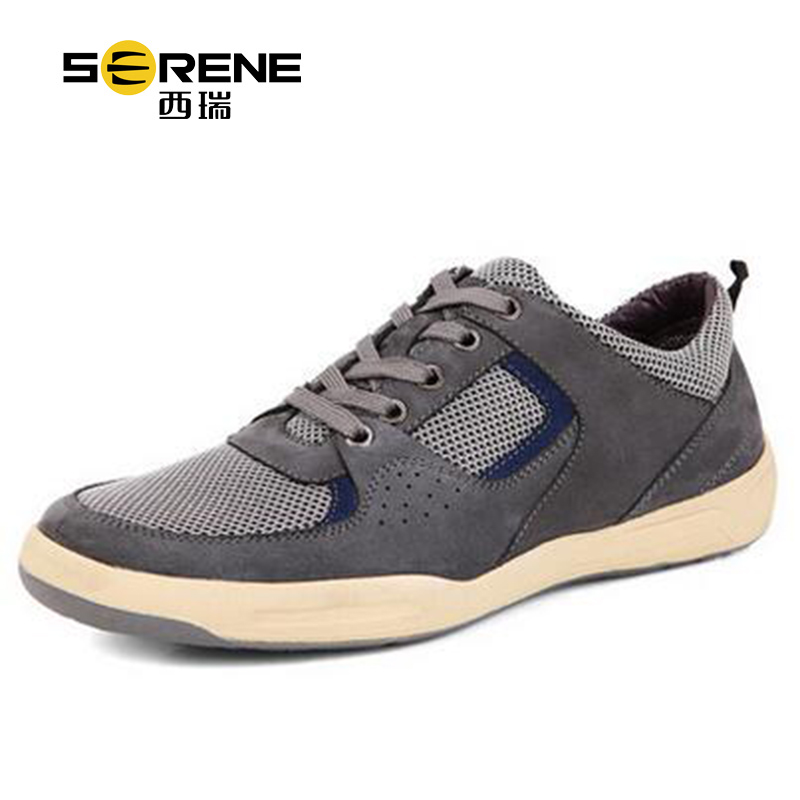 SERENE Brand 9171 Style Fashion Mixed Colour Low Top Lace Up Breathable Air Mesh High Quality