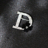 Brand New Women Silver Plated Sparkly Crystal Letter Hijab Pins Black Dasiy Flower Scarf Clothes Sweater