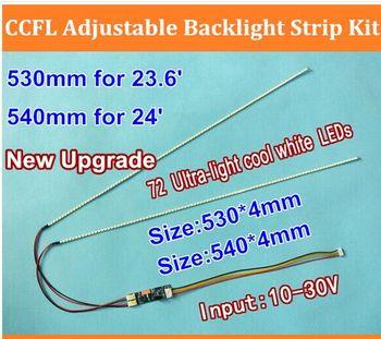 """15set 23.6"""" 530mm 15set 540mm 24"""" Adjustable brightness led backlight strip kit,Update inch LCD ccfl panel to LED backlight"""