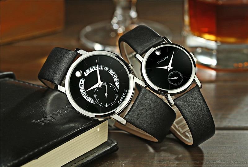 CAROTIF Brand Lover Watch Montre Pair Waterproof Men Women Couples Lovers Watches Relojes Set Wristwatches Relogio Feminino