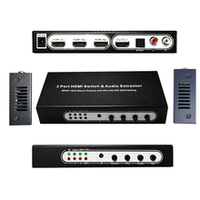 где купить  3 Port hdmi switch 3x1 with Audio(SPDIF+RCA stereo output)   extractor support Full-HD,Full-3D,4kx2k. дешево