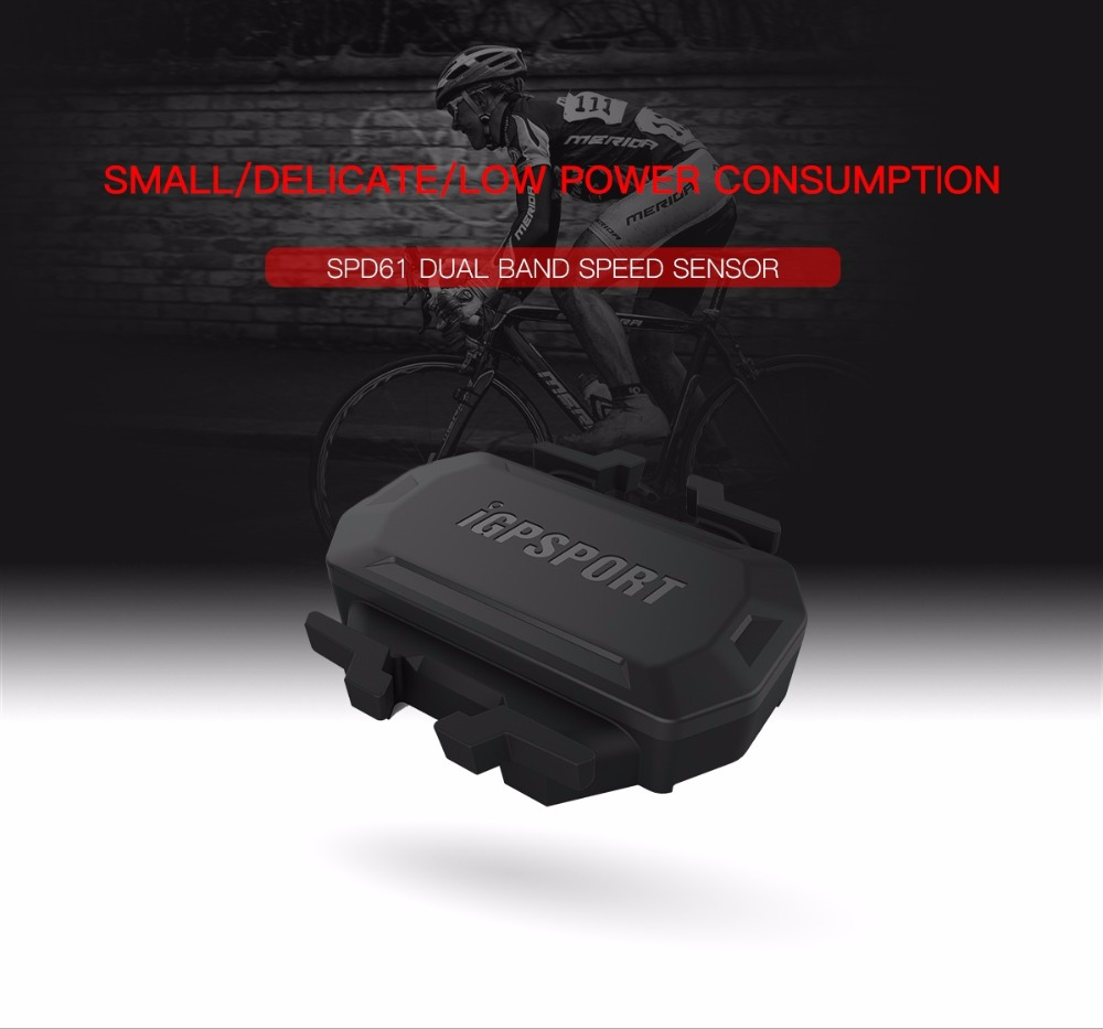 цены IGPSPORT Bicycle Speed Sensor SPD61 ANT+ BT Wireless Cycling Road Bike Computer Stopwatch fit for iGS10 iGS50E iGS618